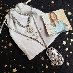 Kendra Scott Rae Filigree Pendant Necklace Silver